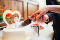 Hochzeit-Torte-Paar