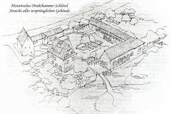 Drahthammer-Schlössl-Historisch-Schaubild-Ursprüngliche-Gebäude