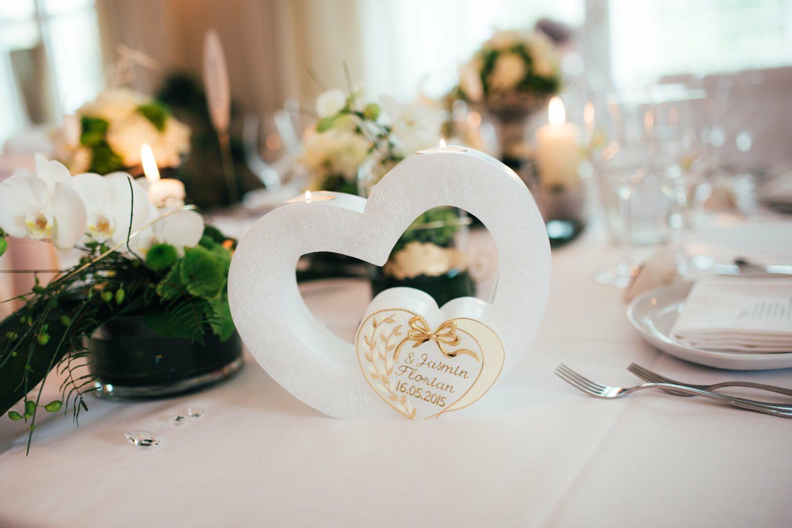 Hochzeit Tisch Dekoration Hotel Restaurant Drahthammer